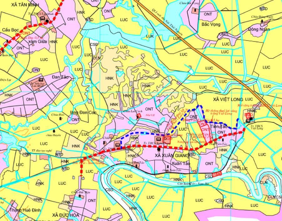 Bản đồ quy hoạch sử dụng đất xã Xuân Giang, Sóc Sơn, Hà Nội - Ảnh 2.