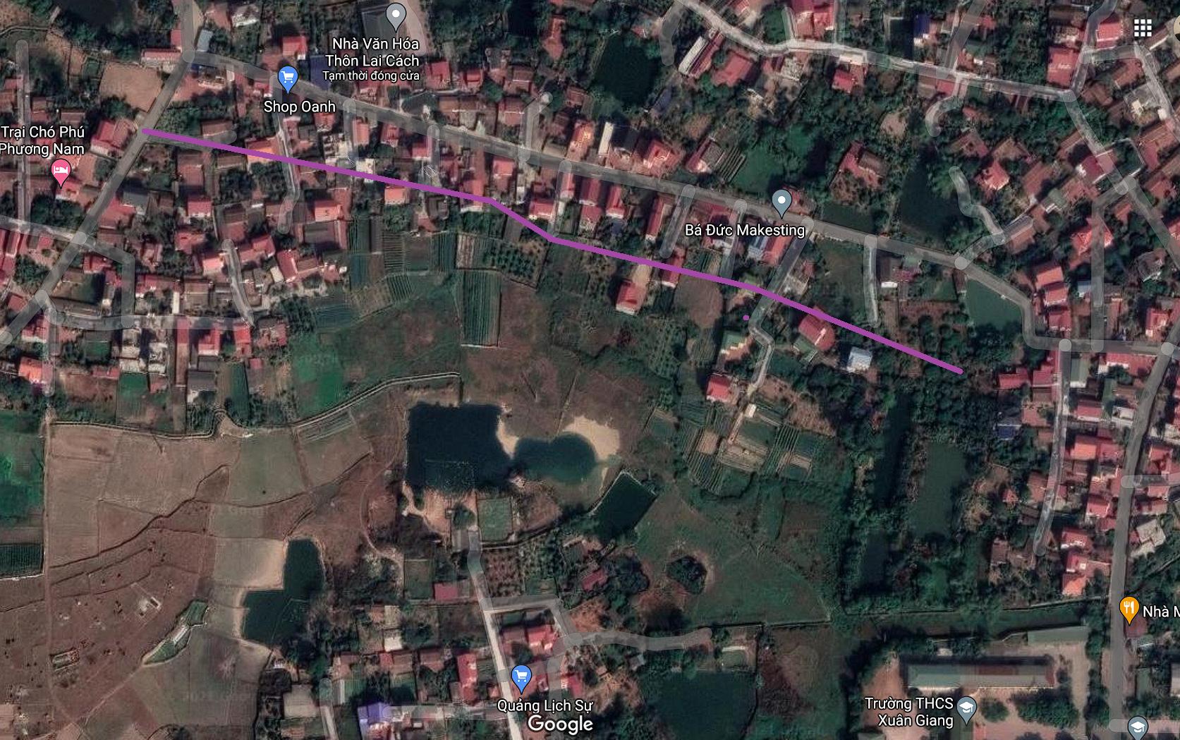 Đường sẽ mở ở xã Xuân Giang, Sóc Sơn, Hà Nội - Ảnh 2.