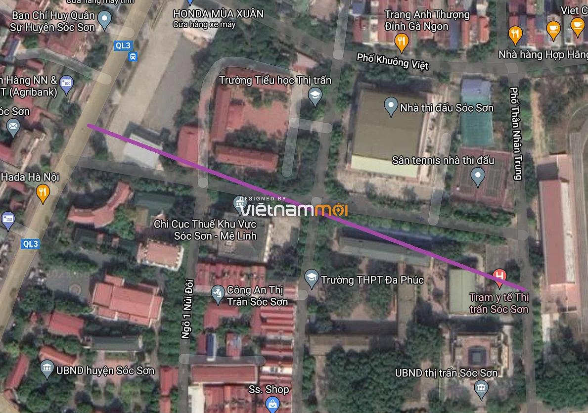 Đường sẽ mở ở thị trấn Sóc Sơn, Sóc Sơn, Hà Nội - Ảnh 2.