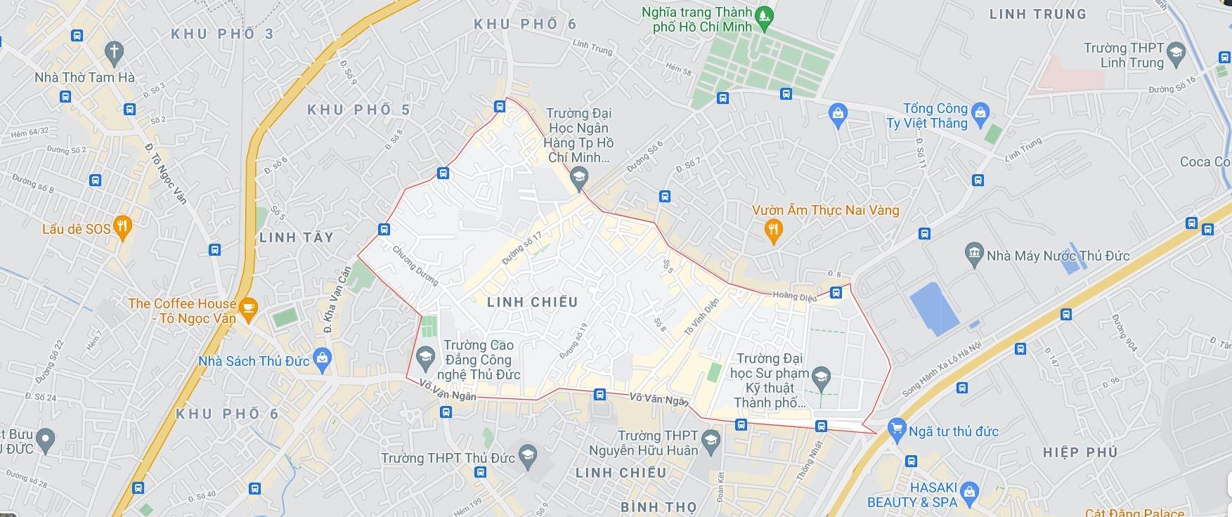 4 khu đất dính quy hoạch tại phường Linh Chiểu, TP Thủ Đức - Ảnh 1.