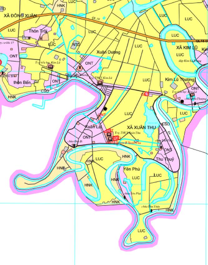 Bản đồ quy hoạch sử dụng đất xã Xuân Thu, Sóc Sơn, Hà Nội - Ảnh 2.
