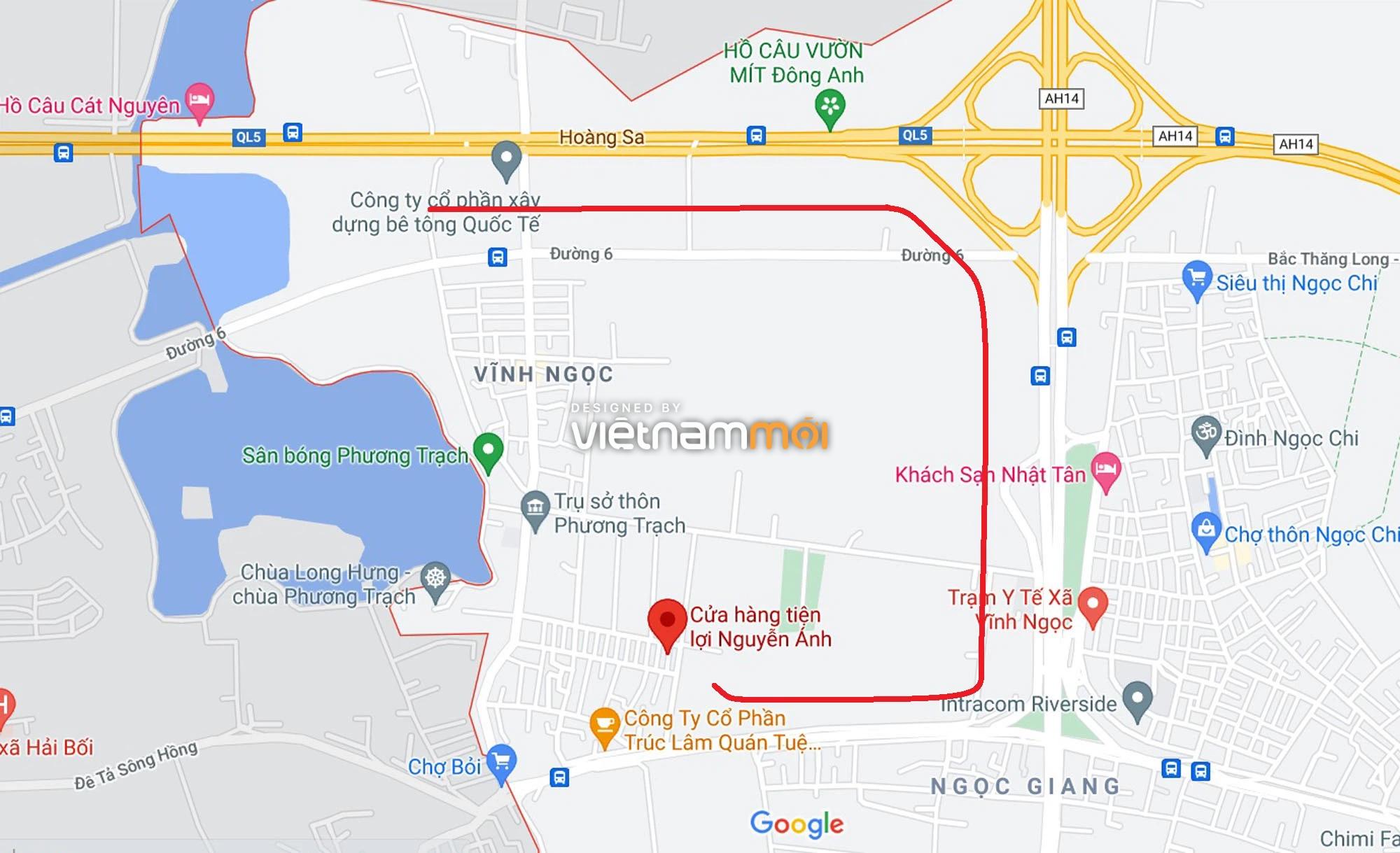 Đường sẽ mở theo quy hoạch ở xã Vĩnh Ngọc, Đông Anh, Hà Nội (phần 2) - Ảnh 1.