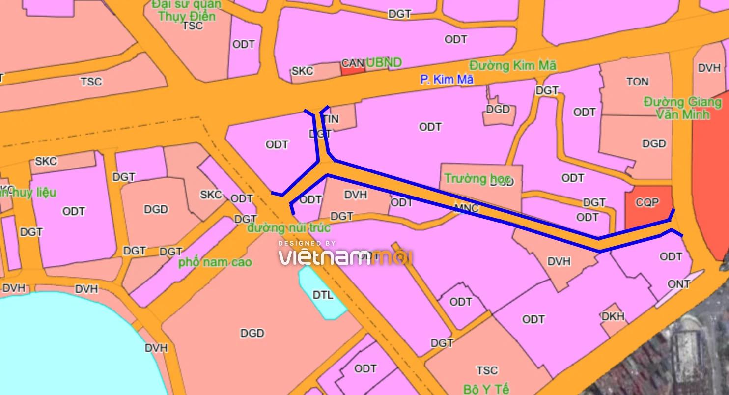 Những khu đất sắp thu hồi ở phường Kim Mã, Ba Đình (phần 3): Hai đường nối từ Núi Trúc đến Kim Mã và Giang Văn Minh - Ảnh 1.