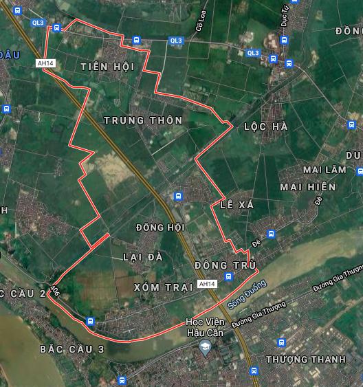 Bản đồ quy hoạch giao thông xã Đông Hội, Đông Anh, Hà Nội - Ảnh 1.