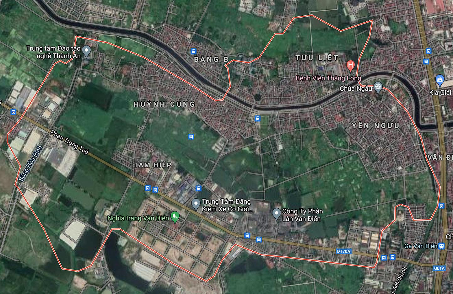 Bản đồ quy hoạch sử dụng đất xã Tam Hiệp, Thanh Trì, Hà Nội - Ảnh 1.