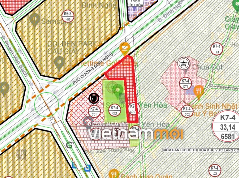Những khu đất dính quy hoạch ở phường Yên Hòa, Cầu Giấy, Hà Nội (phần 2)  - Ảnh 2.