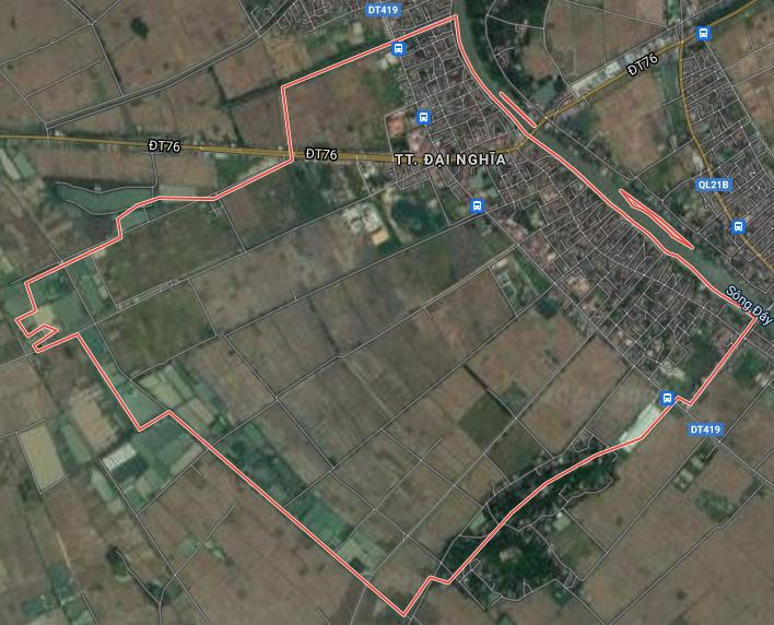 Bản đồ quy hoạch giao thông thị trấn Đại Nghĩa, Mỹ Đức, Hà Nội - Ảnh 1.