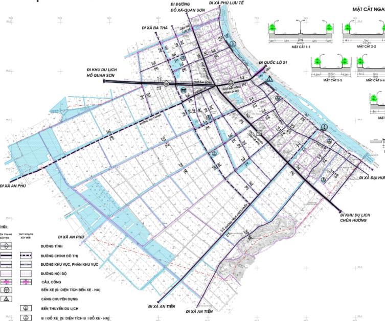 Bản đồ quy hoạch giao thông thị trấn Đại Nghĩa, Mỹ Đức, Hà Nội - Ảnh 2.