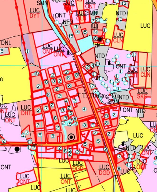 Bản đồ quy hoạch sử dụng đất thị trấn Thường Tín, Thường Tín, Hà Nội - Ảnh 2.
