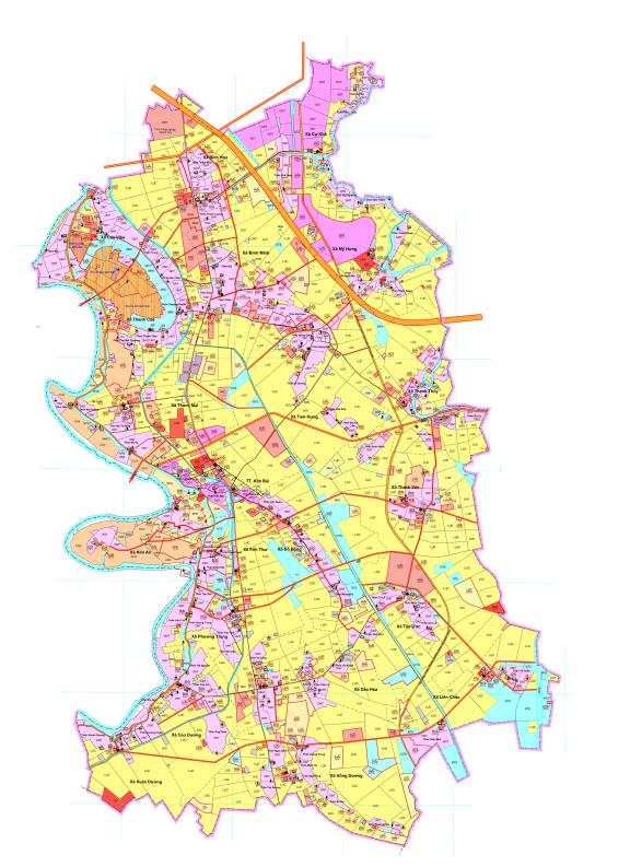 Bản đồ quy hoạch sử dụng đất huyện Thanh Oai, Hà Nội - Ảnh 2.