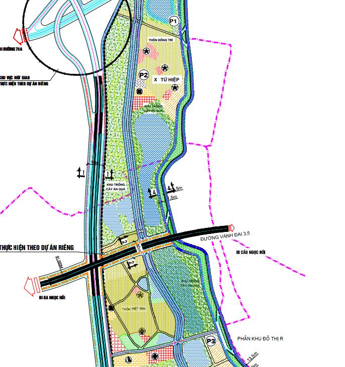 Bản đồ quy hoạch giao thông xã Tứ Hiệp, Thanh Trì, Hà Nội - Ảnh 3.