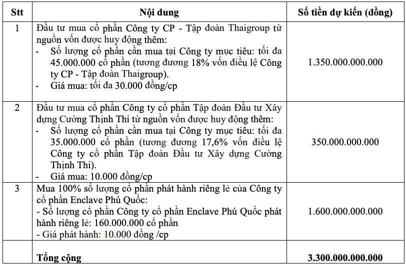 Thaiholdings muốn phát hành 330 triệu cổ phiếu giá 10.000 đồng/cp - Ảnh 3.