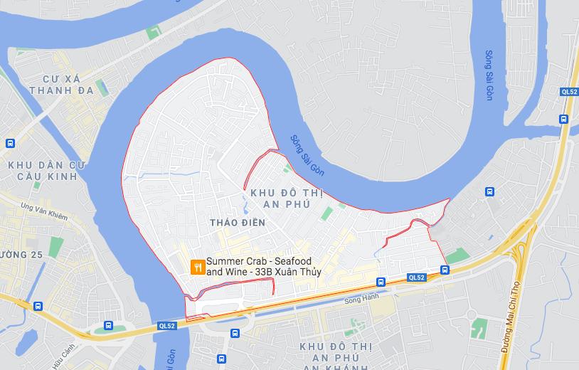 Đường sẽ mở theo quy hoạch ở phường Thảo Điền, Quận 2, TP HCM (phần 1) - Ảnh 1.