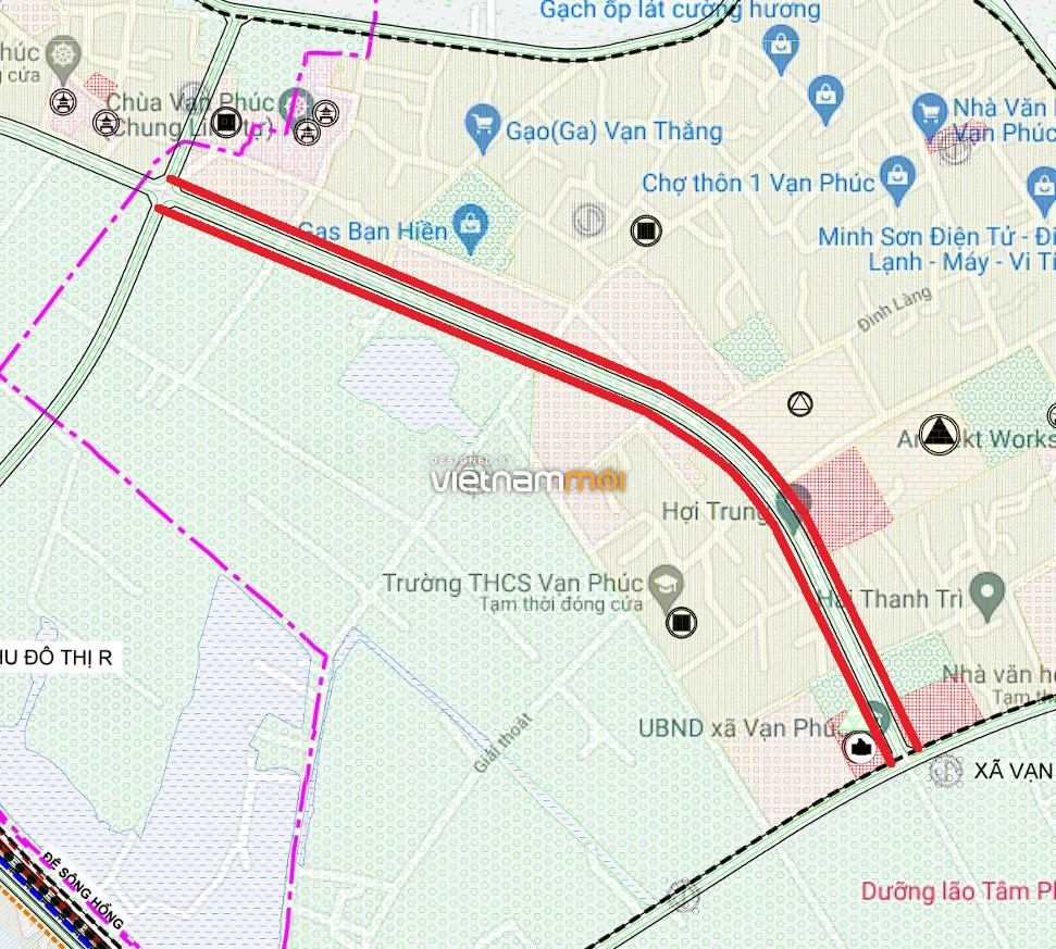 Đường sẽ mở ở xã Vạn Phúc, Thanh Trì, Hà Nội - Ảnh 1.