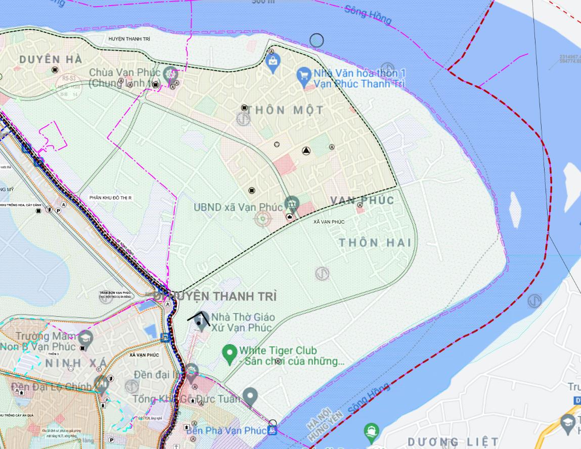 Bản đồ quy hoạch sử dụng đất xã Vạn Phúc, Thanh Trì, Hà Nội - Ảnh 2.