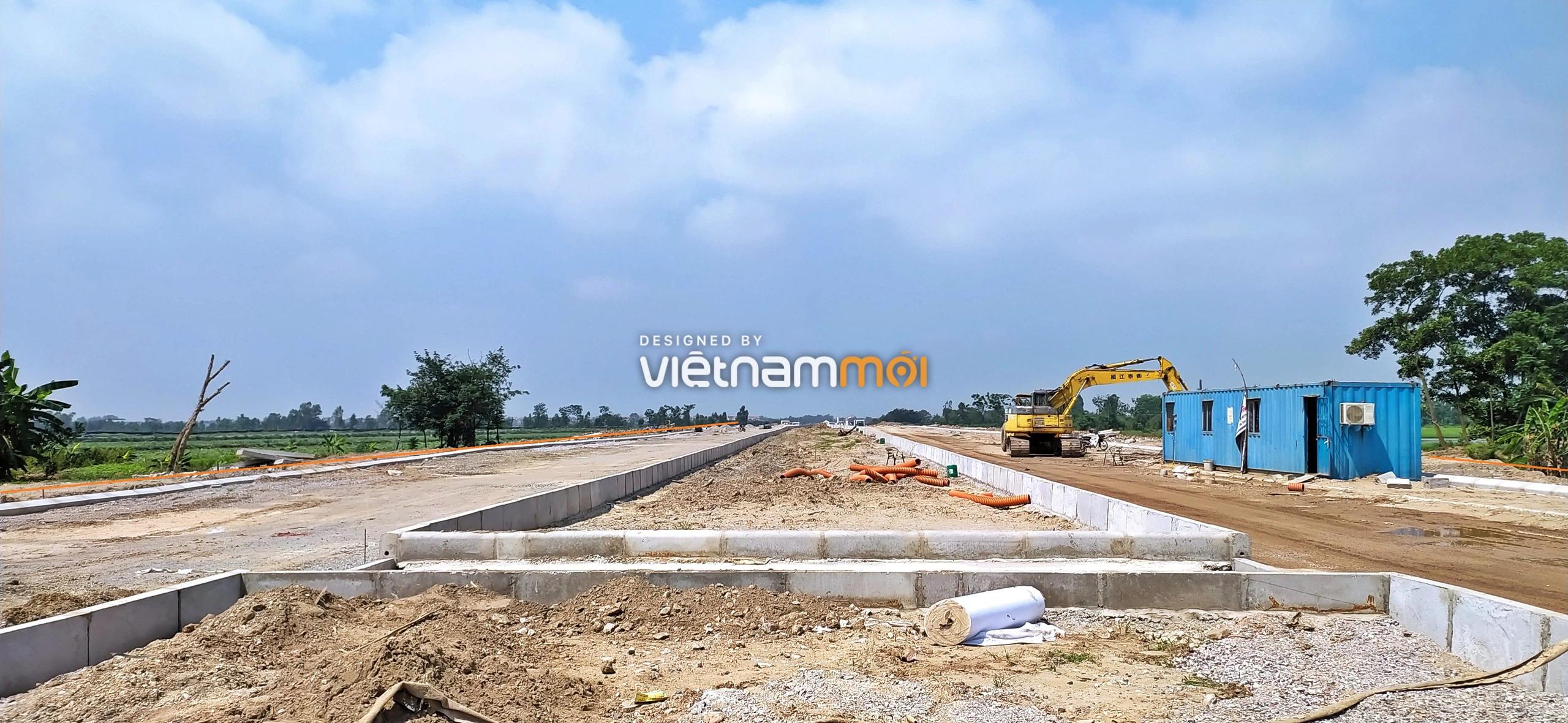 Toàn cảnh đường từ trung tâm hành chính huyện Mê Linh đến gần Văn Khê đang mở theo quy hoạch ở Hà Nội - Ảnh 5.