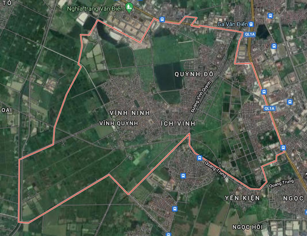 Bản đồ quy hoạch giao thông xã Vĩnh Quỳnh, Thanh Trì, Hà Nội - Ảnh 1.