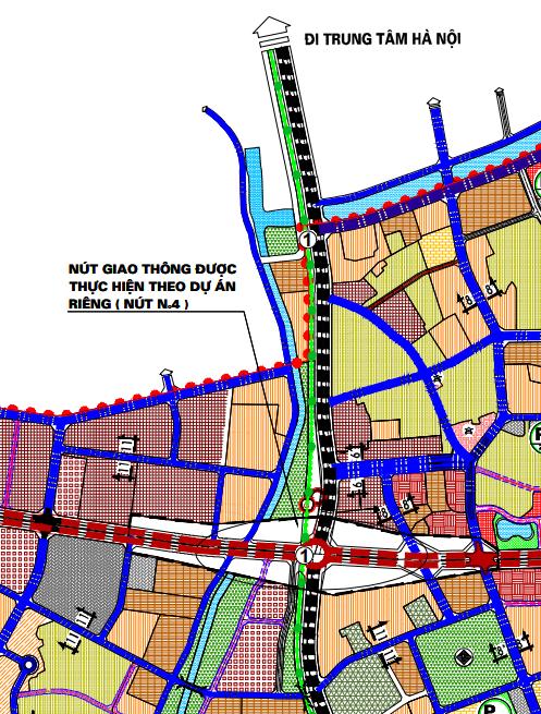 Bản đồ quy hoạch giao thông thị trấn Văn Điển, Thanh Trì, Hà Nội - Ảnh 2.