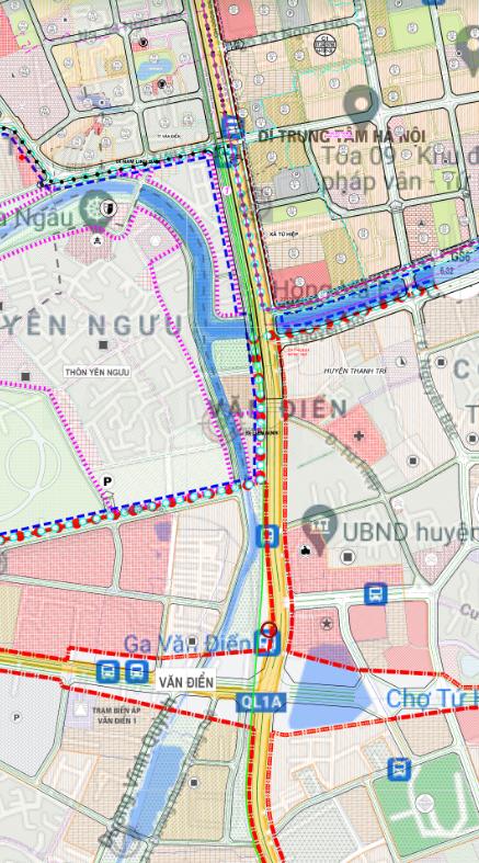 Bản đồ quy hoạch sử dụng đất thị trấn Văn Điển, Thanh Trì, Hà Nội - Ảnh 2.