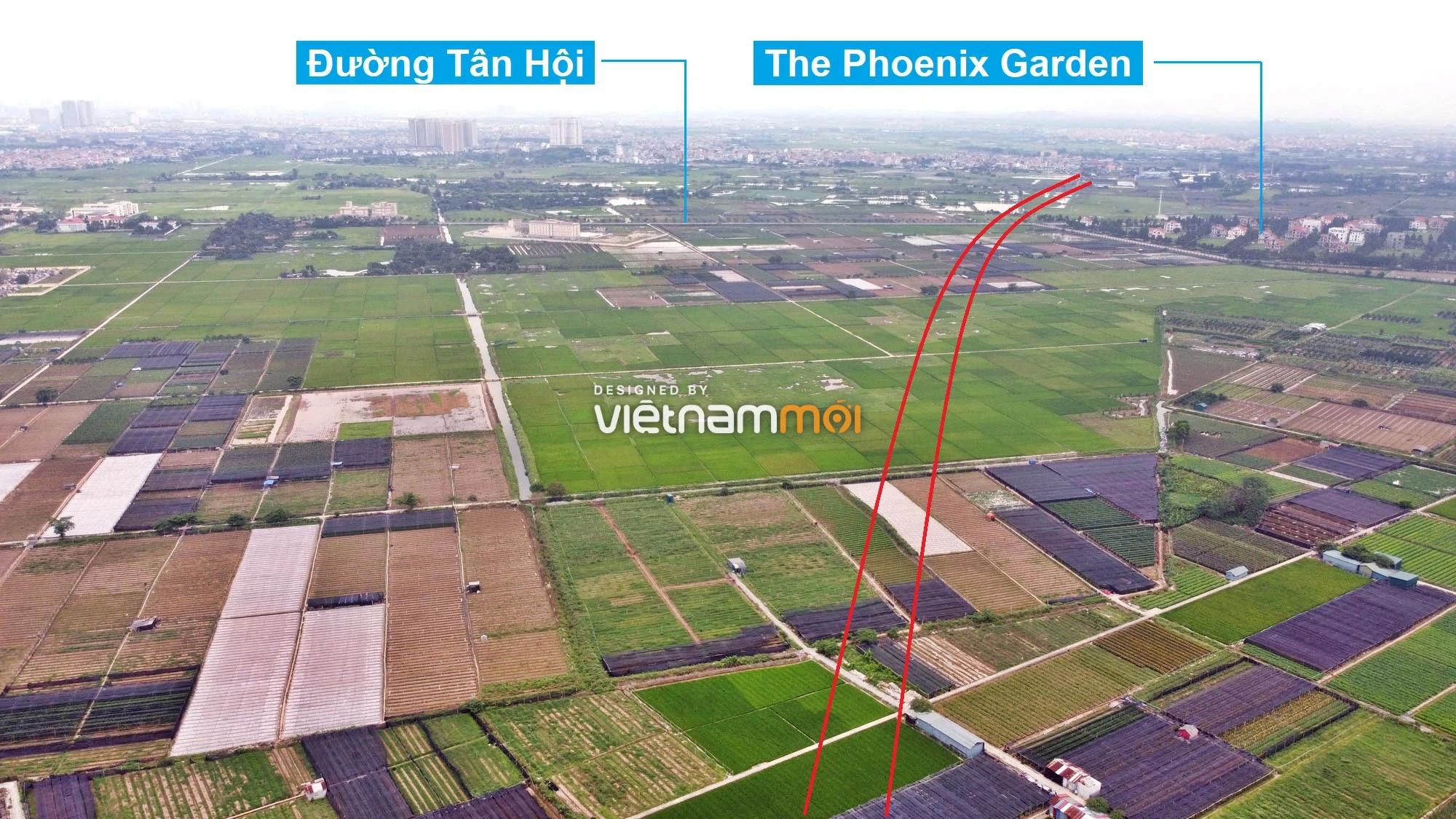 Toàn cảnh đường Vành đai 4 theo quy hoạch qua huyện Đan Phượng, Hà Nội - Ảnh 5.
