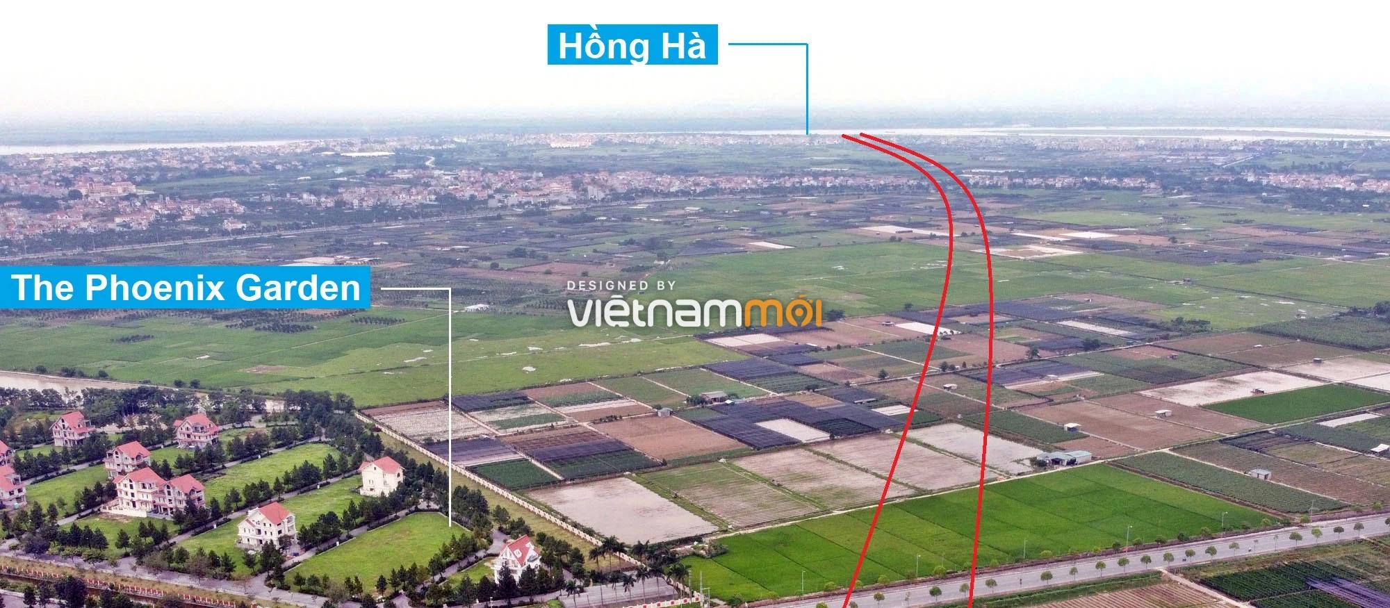 Toàn cảnh đường Vành đai 4 theo quy hoạch qua huyện Đan Phượng, Hà Nội - Ảnh 8.