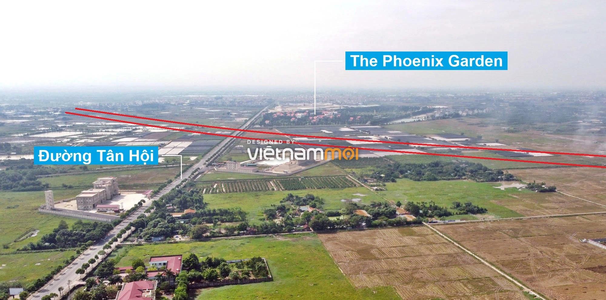 Toàn cảnh đường Vành đai 4 theo quy hoạch qua huyện Đan Phượng, Hà Nội - Ảnh 9.