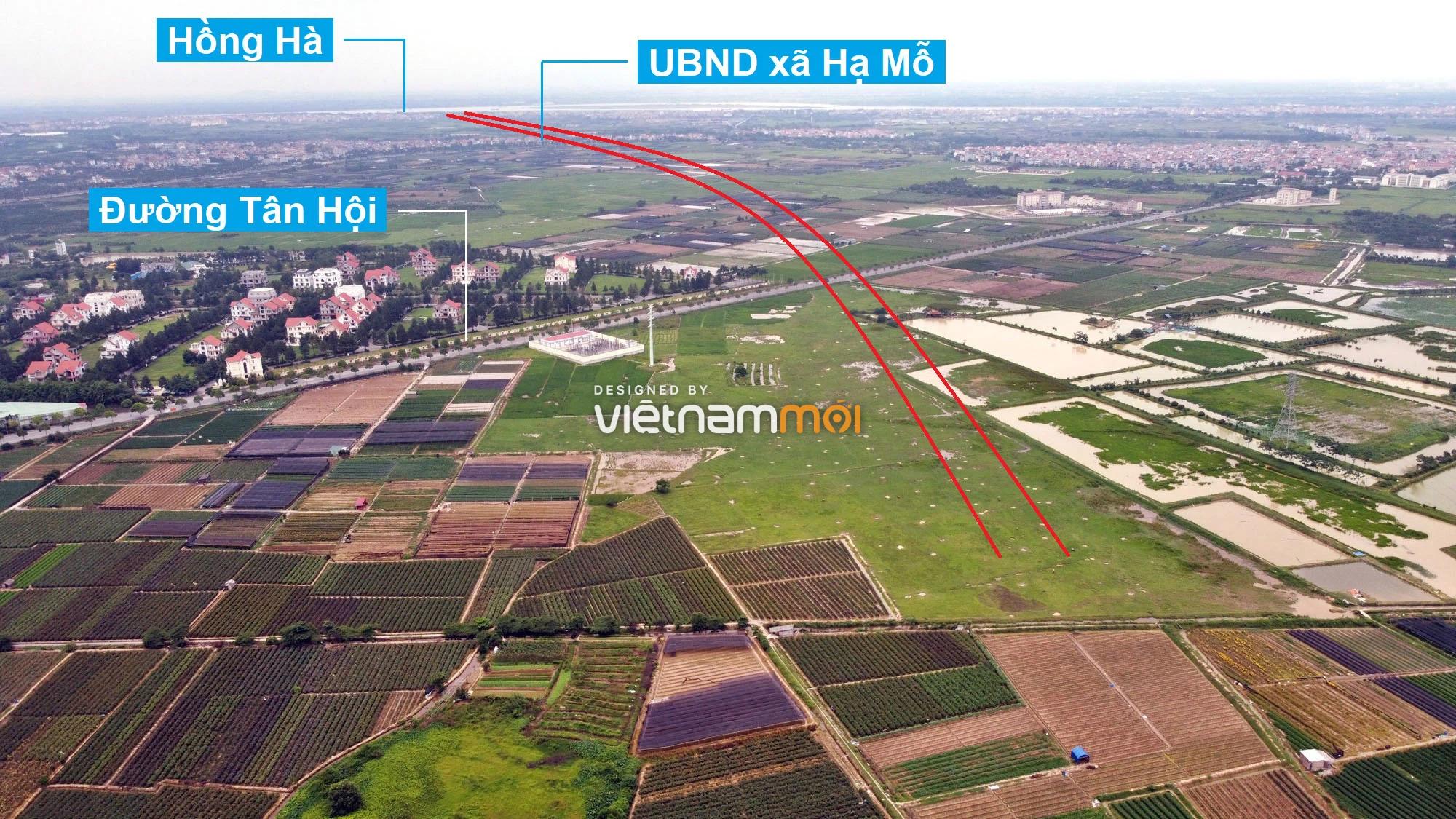 Toàn cảnh đường Vành đai 4 theo quy hoạch qua huyện Đan Phượng, Hà Nội - Ảnh 11.