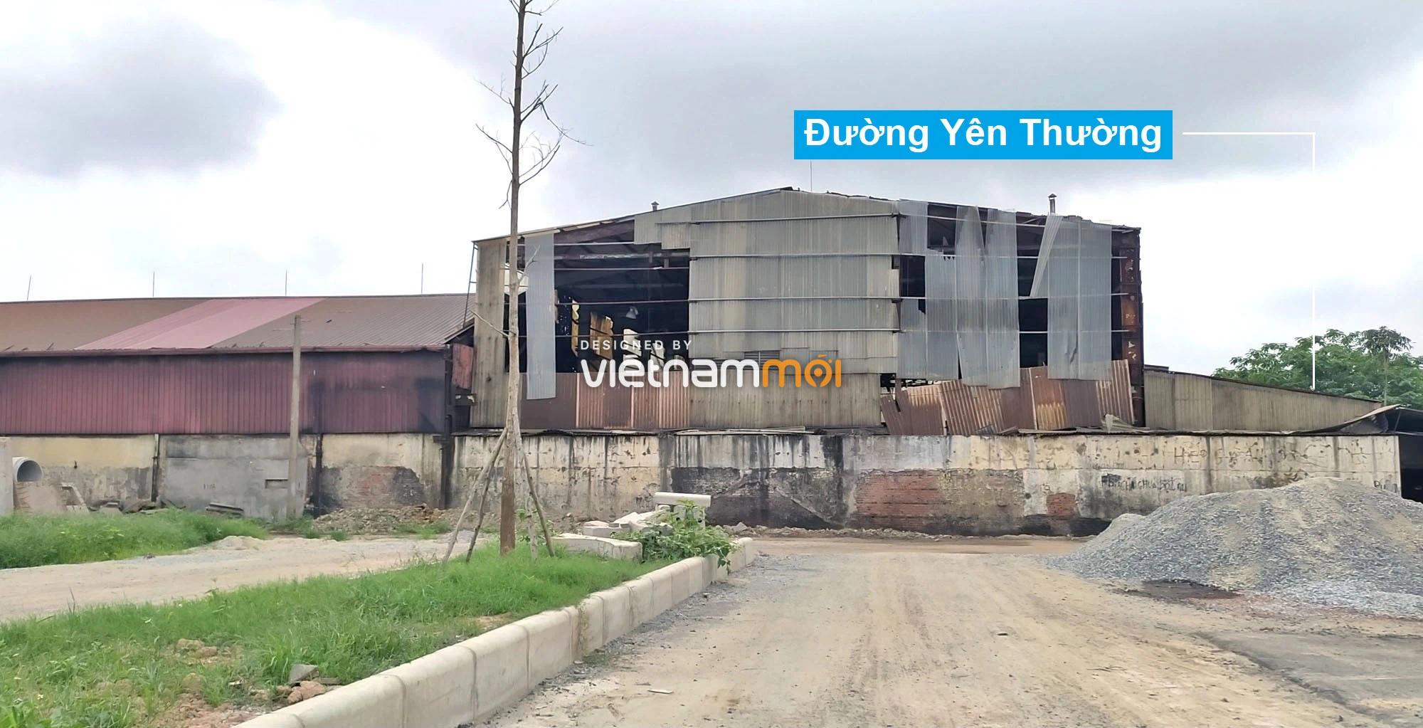 Toàn cảnh tuyến đường 40 m qua xã Yên Viên, Yên Thường đang mở theo quy hoạch ở Hà Nội - Ảnh 3.