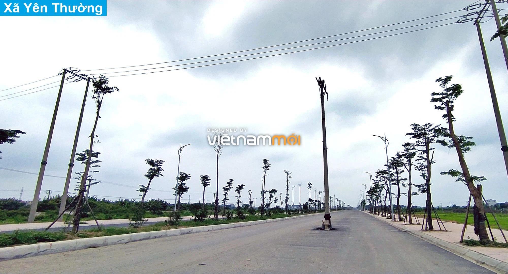 Toàn cảnh tuyến đường 40 m qua xã Yên Viên, Yên Thường đang mở theo quy hoạch ở Hà Nội - Ảnh 4.