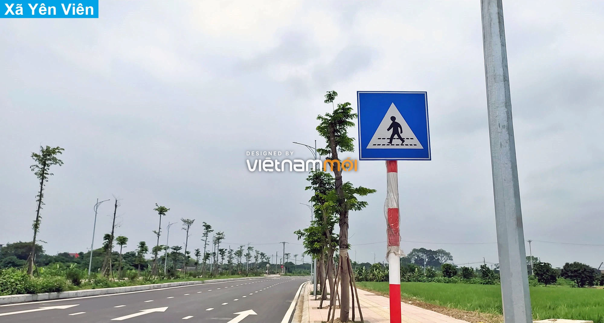 Toàn cảnh tuyến đường 40 m qua xã Yên Viên, Yên Thường đang mở theo quy hoạch ở Hà Nội - Ảnh 5.
