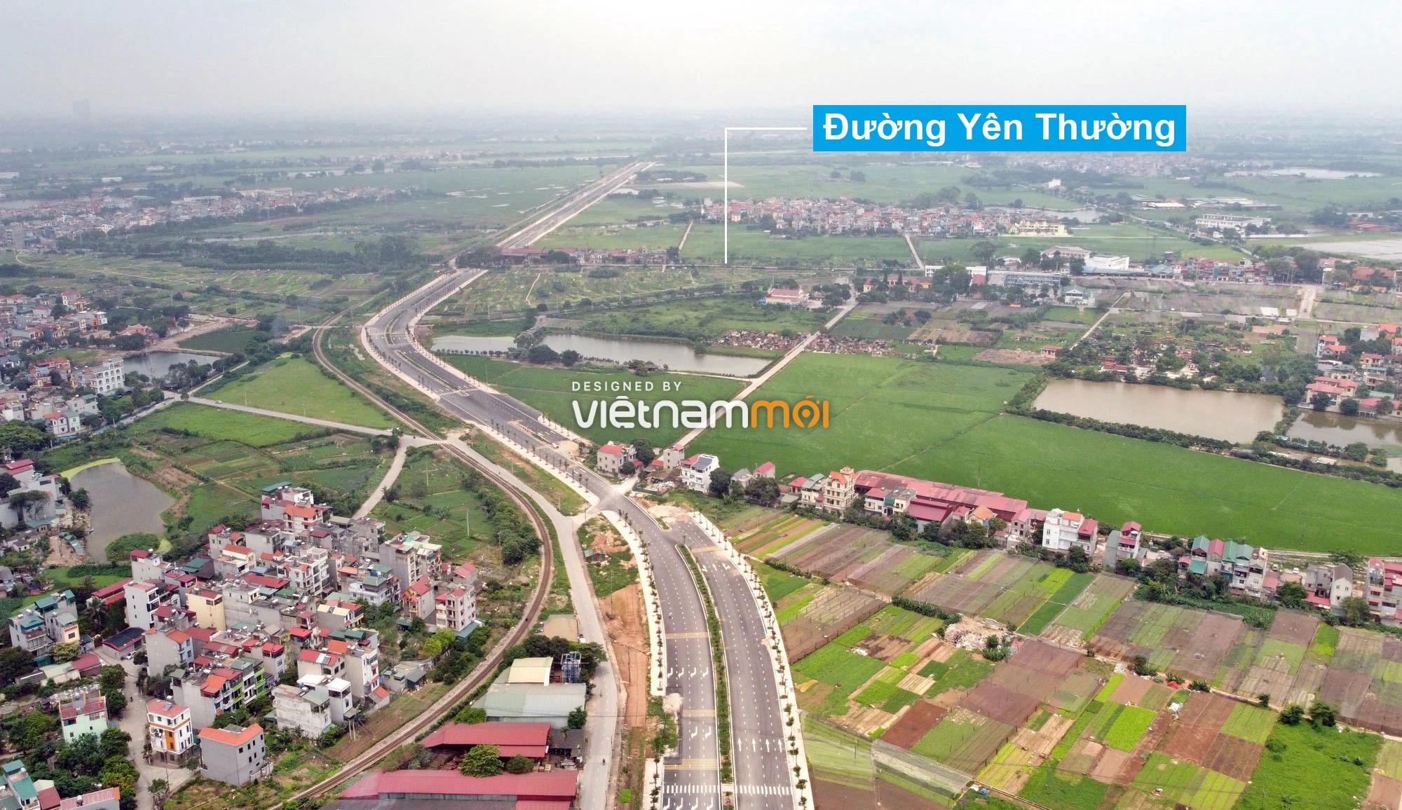 Toàn cảnh tuyến đường 40 m qua xã Yên Viên, Yên Thường đang mở theo quy hoạch ở Hà Nội - Ảnh 6.