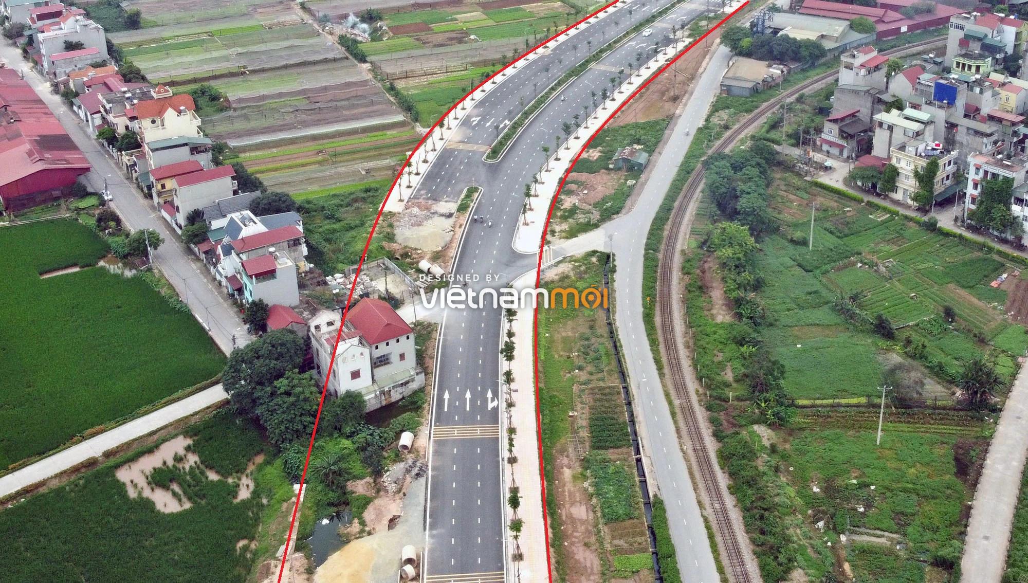 Toàn cảnh tuyến đường 40 m qua xã Yên Viên, Yên Thường đang mở theo quy hoạch ở Hà Nội - Ảnh 8.