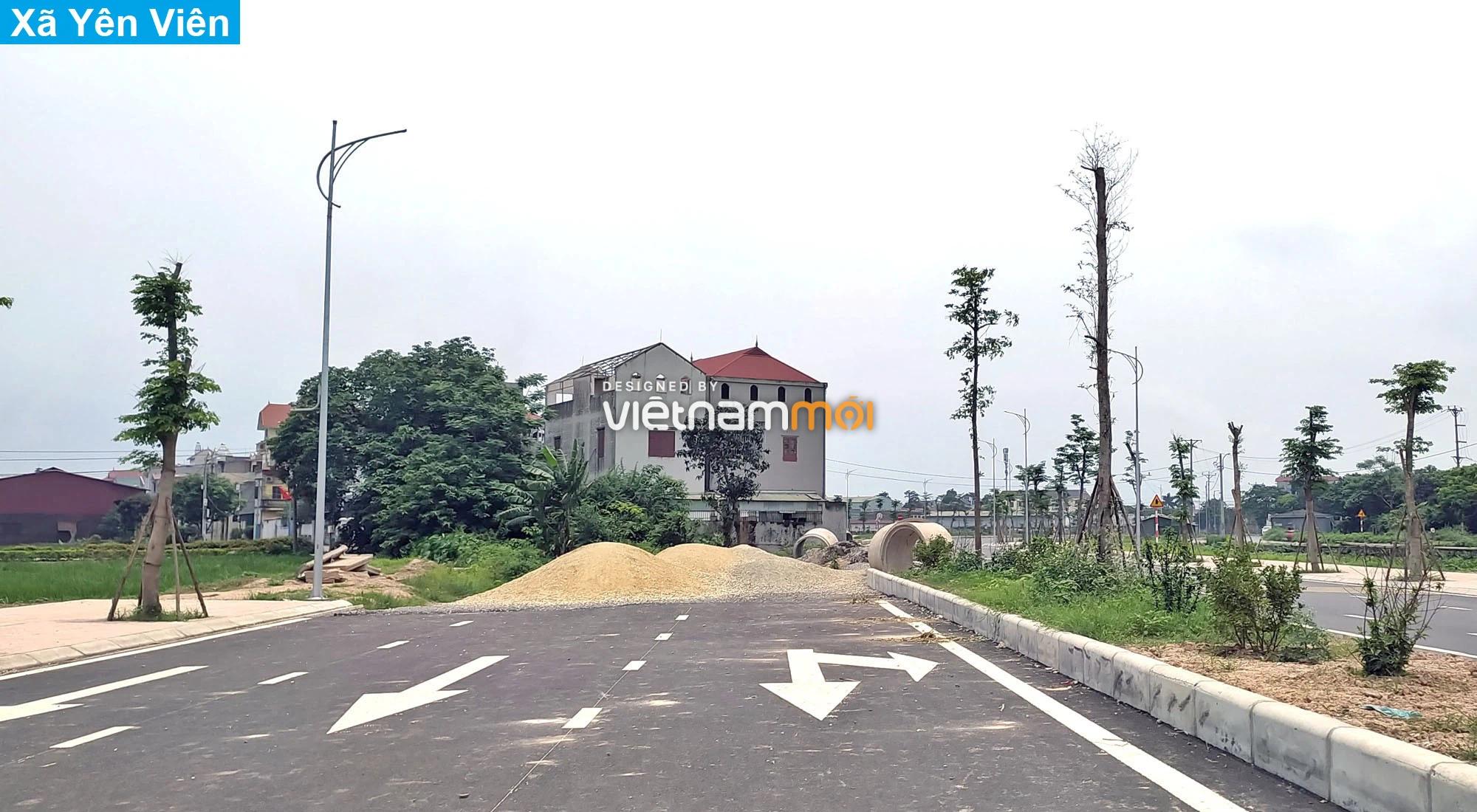 Toàn cảnh tuyến đường 40 m qua xã Yên Viên, Yên Thường đang mở theo quy hoạch ở Hà Nội - Ảnh 10.