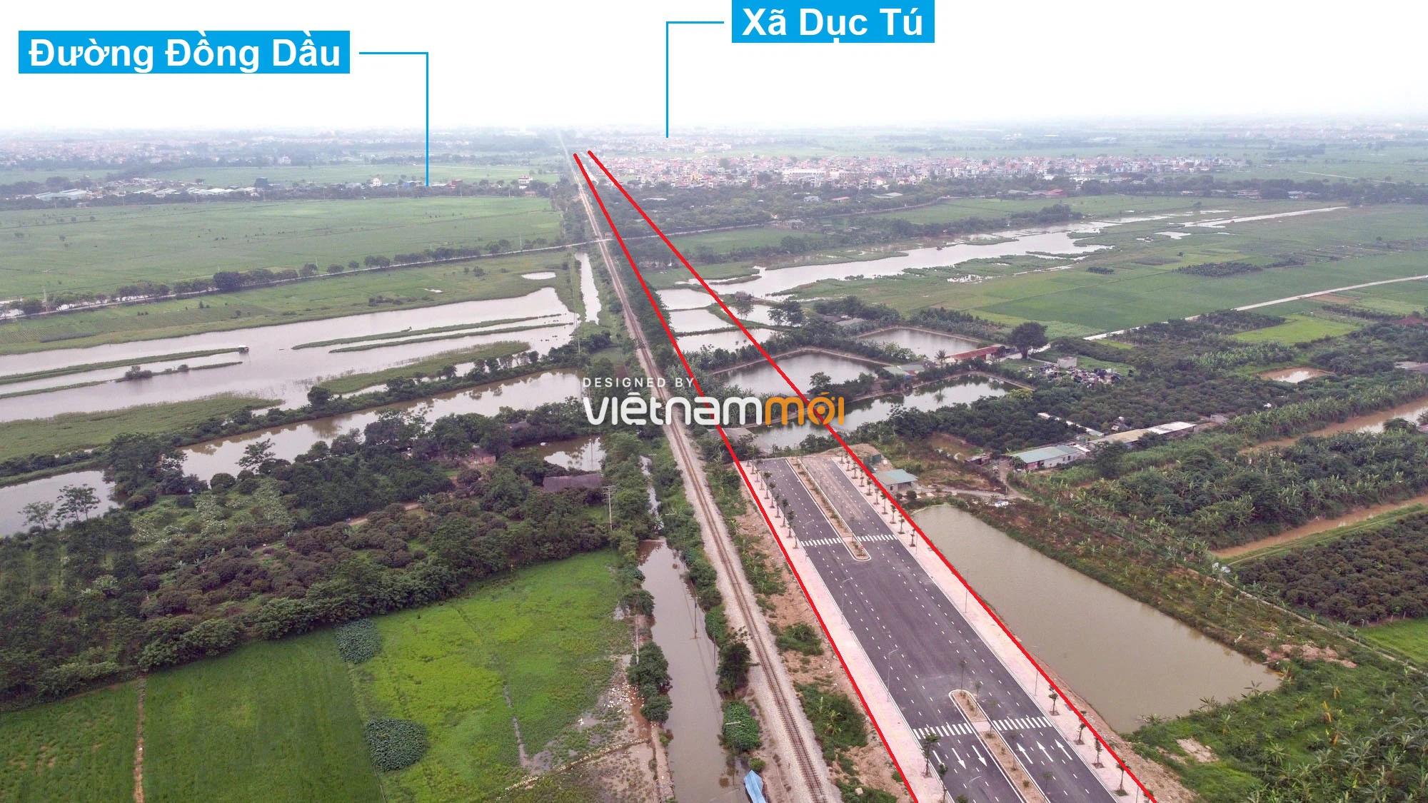 Toàn cảnh tuyến đường 40 m qua xã Yên Viên, Yên Thường đang mở theo quy hoạch ở Hà Nội - Ảnh 12.
