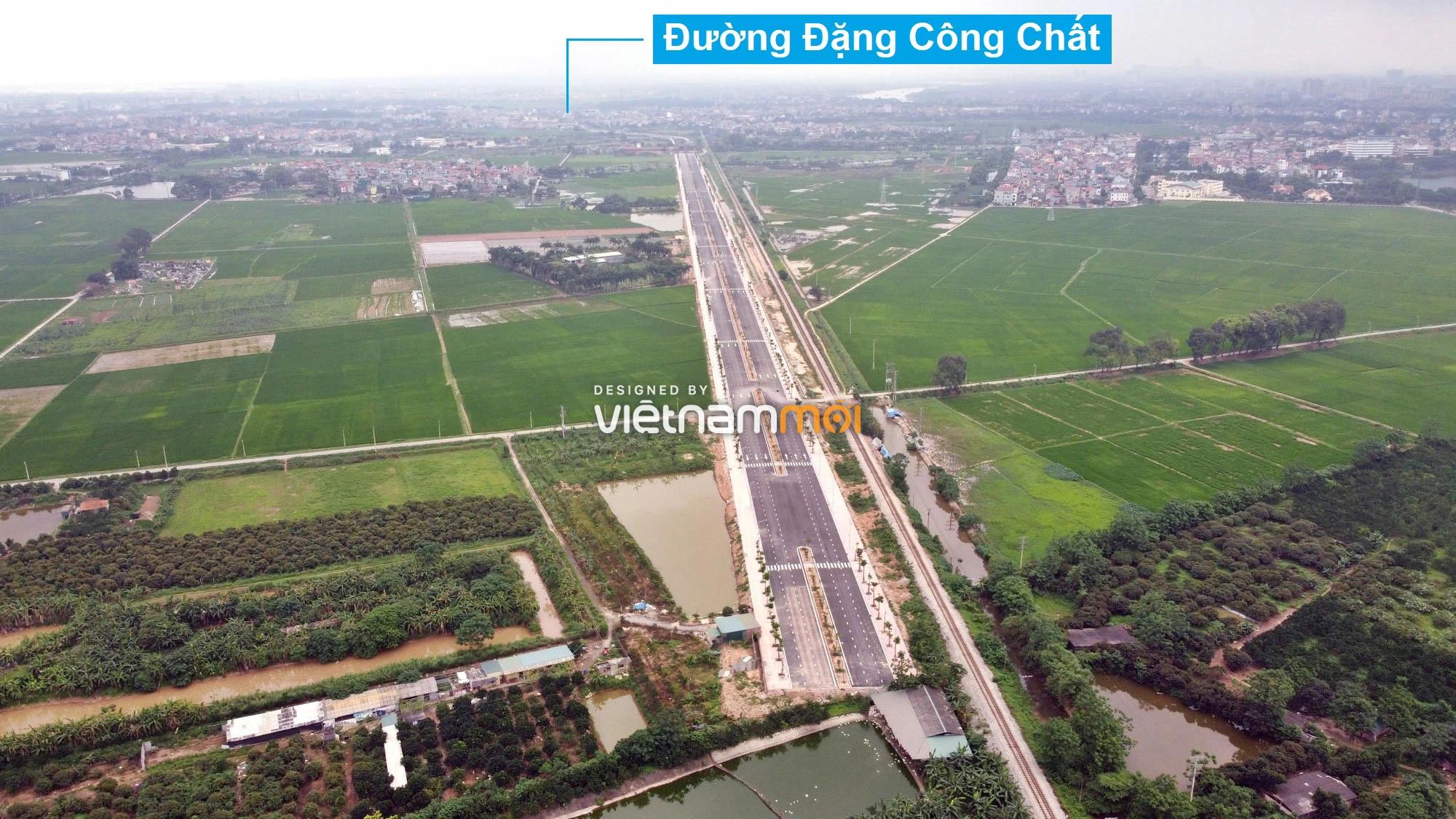 Toàn cảnh tuyến đường 40 m qua xã Yên Viên, Yên Thường đang mở theo quy hoạch ở Hà Nội - Ảnh 13.