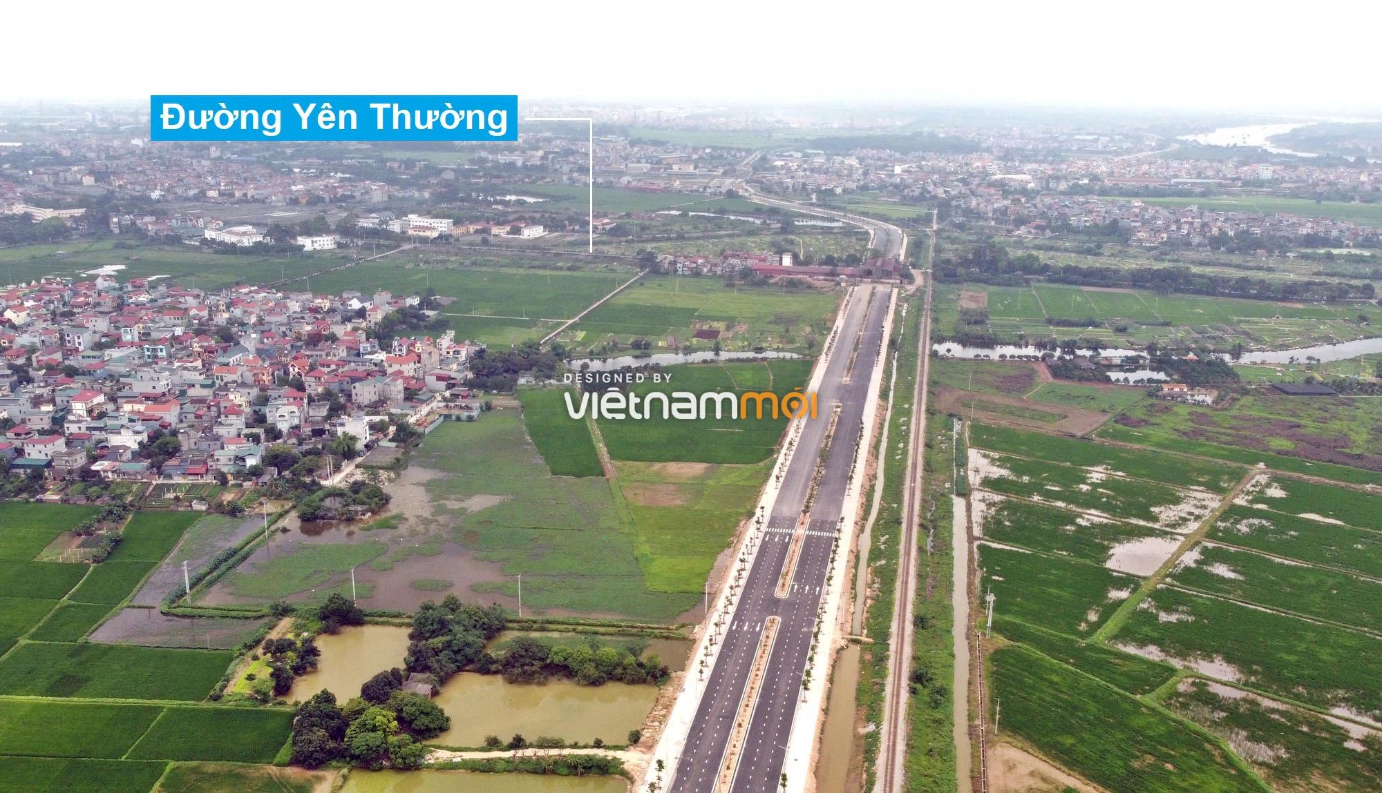 Toàn cảnh tuyến đường 40 m qua xã Yên Viên, Yên Thường đang mở theo quy hoạch ở Hà Nội - Ảnh 16.