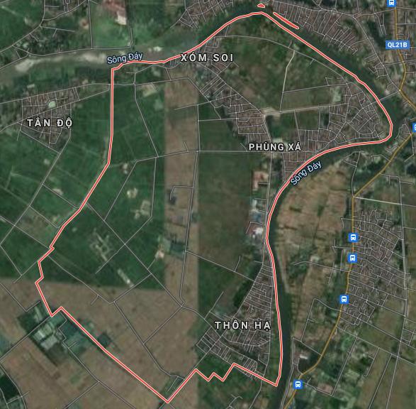 Bản đồ quy hoạch giao thông xã Phùng Xá, Mỹ Đức, Hà Nội - Ảnh 1.