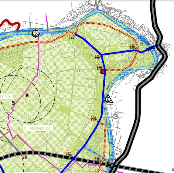 Bản đồ quy hoạch giao thông xã Phùng Xá, Mỹ Đức, Hà Nội - Ảnh 2.