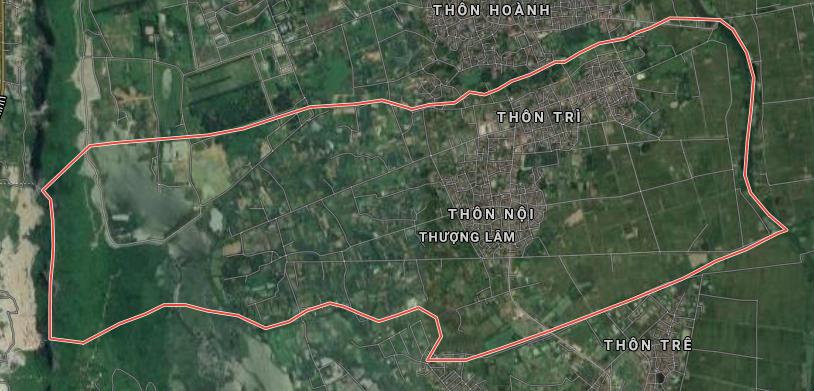 Bản đồ quy hoạch sử dụng đất xã Thượng Lâm, Mỹ Đức, Hà Nội - Ảnh 1.