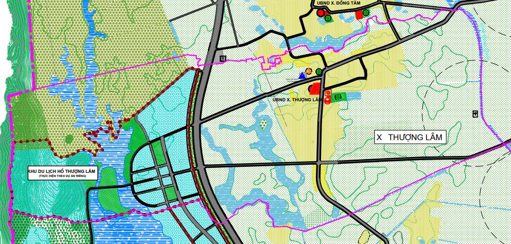 Bản đồ quy hoạch sử dụng đất xã Thượng Lâm, Mỹ Đức, Hà Nội - Ảnh 2.