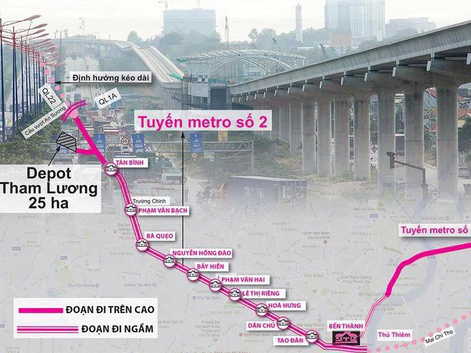 Tuyến metro Bến Thành - Tham Lương bàn giao xong gần 80% mặt bằng - Ảnh 1.