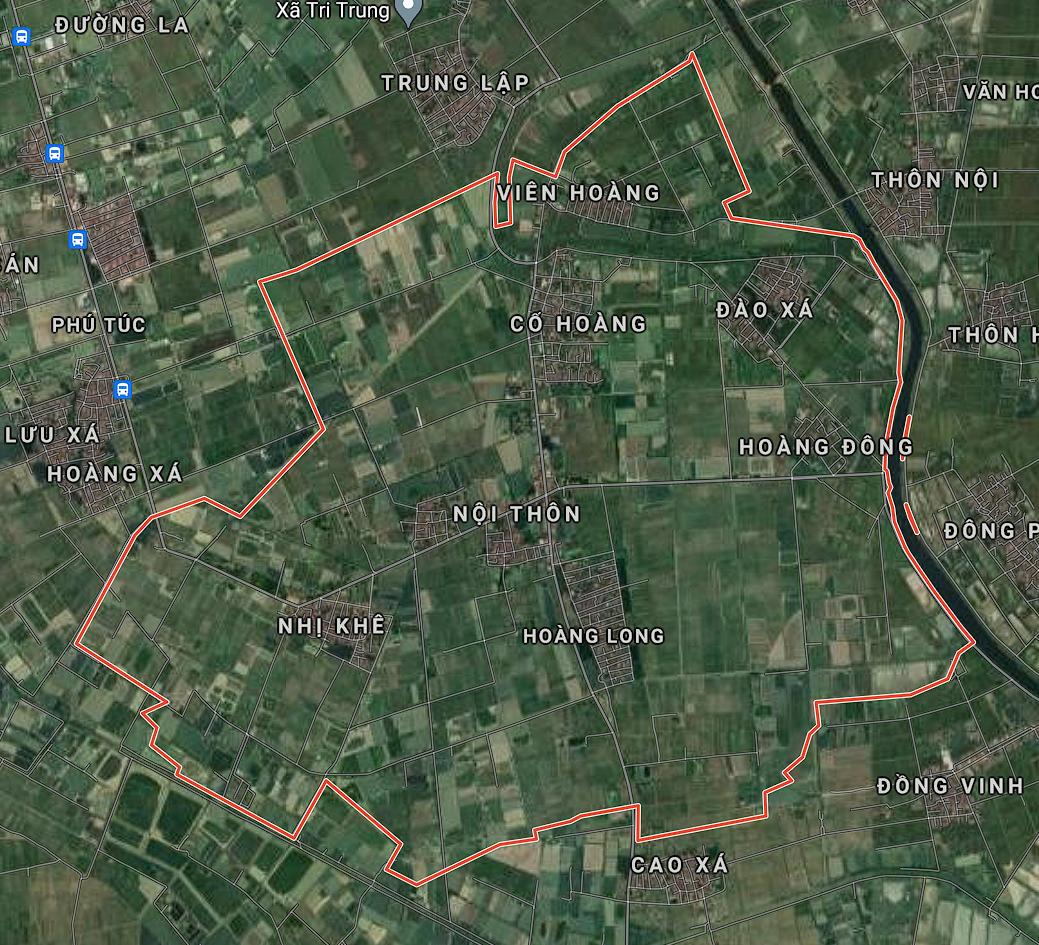 Bản đồ quy hoạch sử dụng đất xã Hoàng Long, Phú Xuyên, Hà Nội - Ảnh 1.