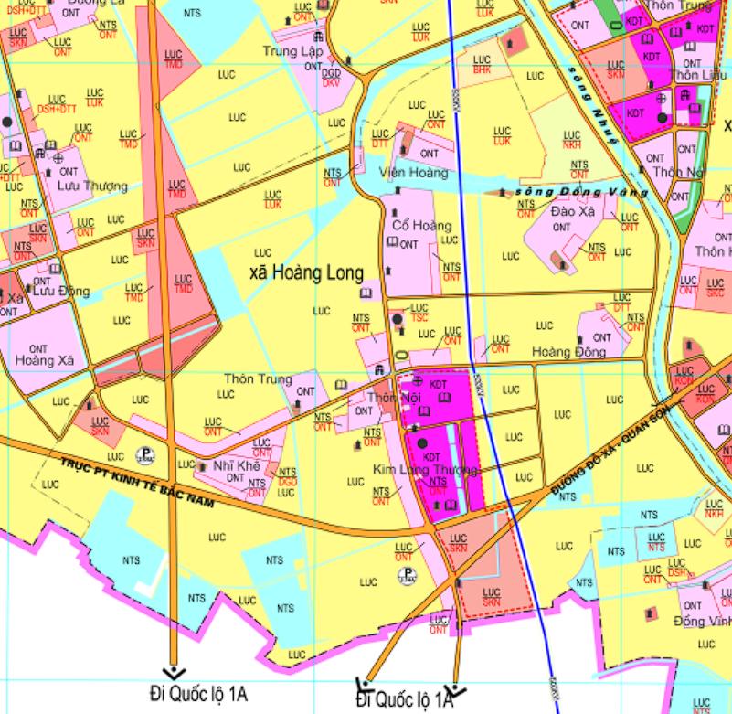 Bản đồ quy hoạch sử dụng đất xã Hoàng Long, Phú Xuyên, Hà Nội - Ảnh 2.