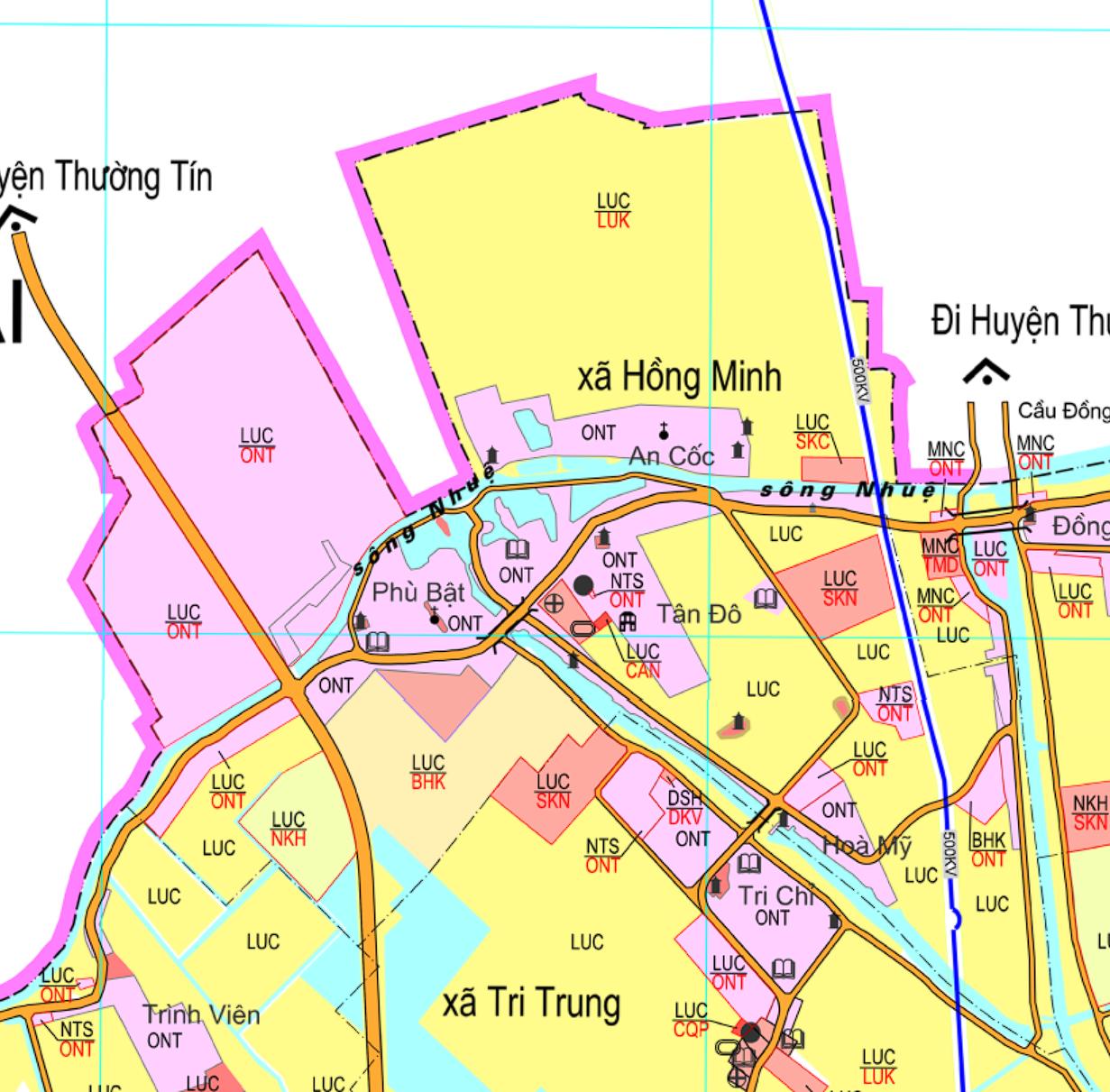 Bản đồ quy hoạch giao thông xã Hồng Minh, Phú Xuyên, Hà Nội - Ảnh 2.