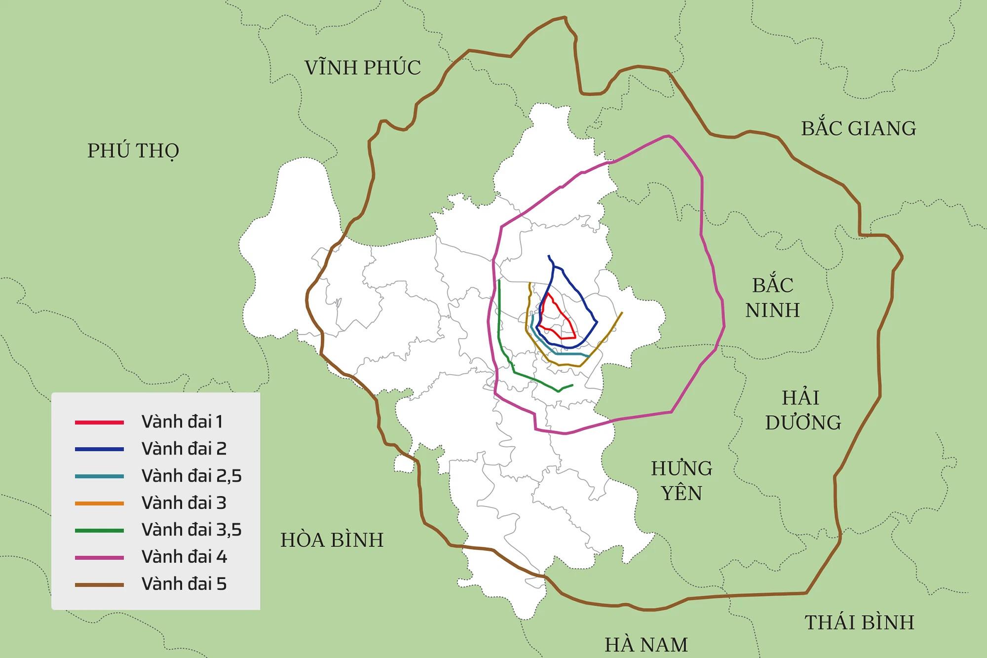 Hệ thống 7 đường vành đai của Hà Nội: Hai tuyến chưa hình thành, 5 tuyến còn lại tổng mức đầu tư gần 150.000 tỷ - Ảnh 1.