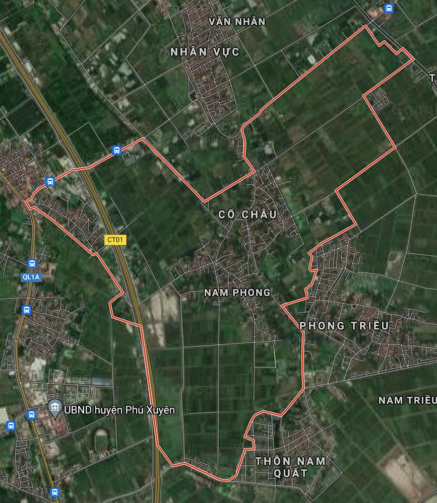 Bản đồ quy hoạch giao thông xã Nam Phong, Phú Xuyên, Hà Nội - Ảnh 1.