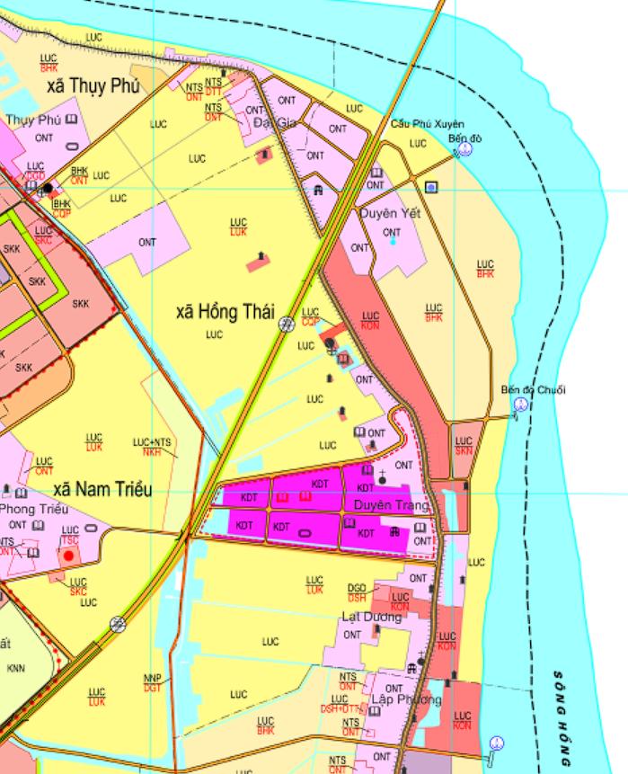 Bản đồ quy hoạch sử dụng đất xã Hồng Thái, Phú Xuyên, Hà Nội - Ảnh 2.