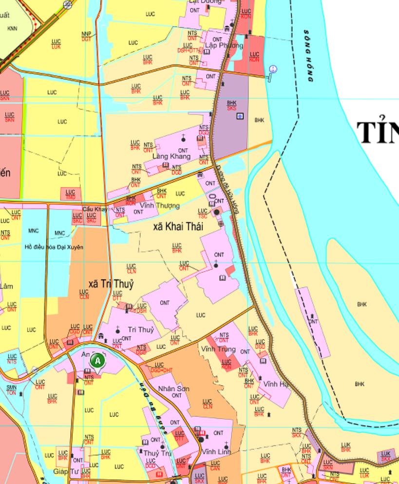 Bản đồ quy hoạch giao thông xã Khai Thái, Phú Xuyên, Hà Nội - Ảnh 2.