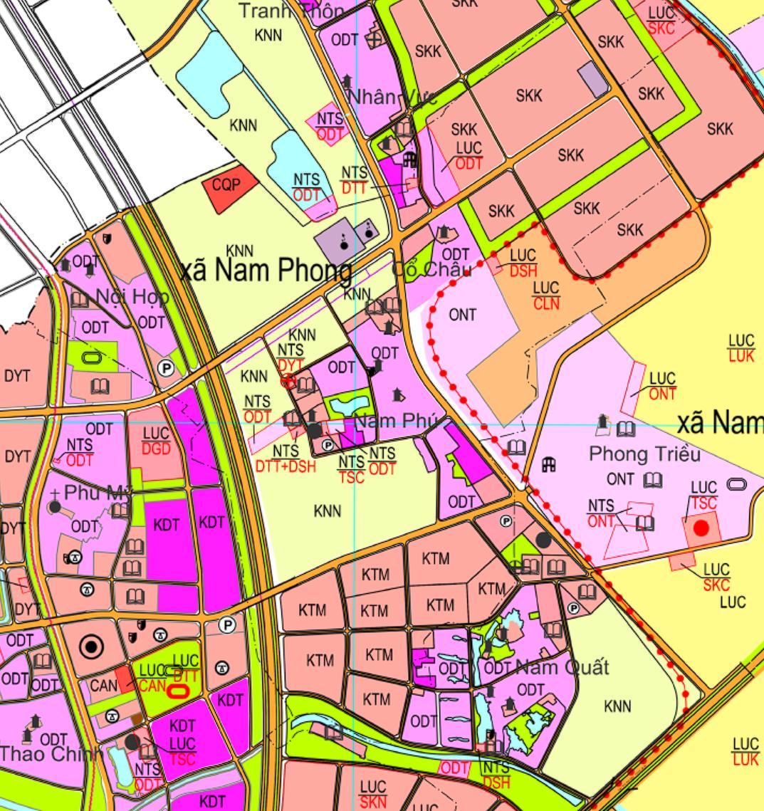 Bản đồ quy hoạch giao thông xã Nam Phong, Phú Xuyên, Hà Nội - Ảnh 2.