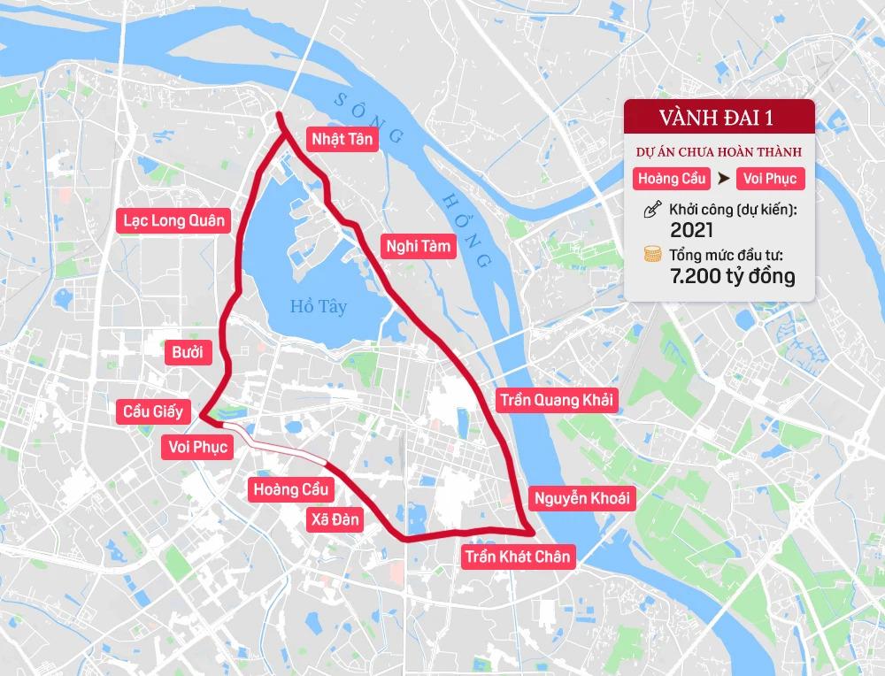 Hệ thống 7 đường vành đai của Hà Nội: Hai tuyến chưa hình thành, 5 tuyến còn lại tổng mức đầu tư gần 150.000 tỷ - Ảnh 2.
